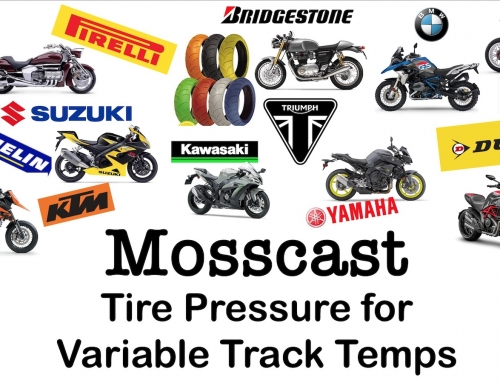 Mosscast: Motorcycle Tire Pressure for Variable Track Temperatures