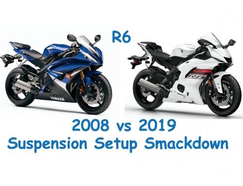 2 Clicks Out: 2008 vs 2019 R6 Suspension Setups