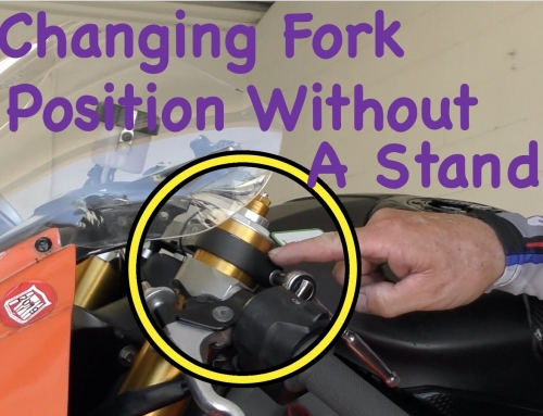 Changing Motorcycle Fork Position/Geometry Using Your Kickstand