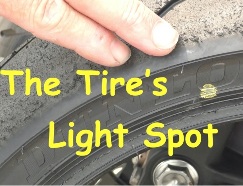 Contact Patch: Motorcycle Tire Light Spot Paint Marks