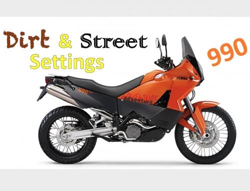 2 Clicks Out: KTM 990 Adventure Street & Dirt Suspension Setup