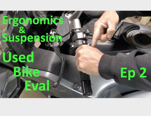 Evaluating & Inspecting a Used Motorbike Ep 2: Ergonomics & Suspension