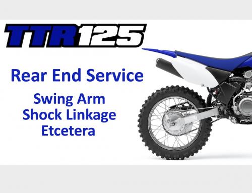TT-R125 Project: The Rear End, Swingarm & Linkage Service Ep 3